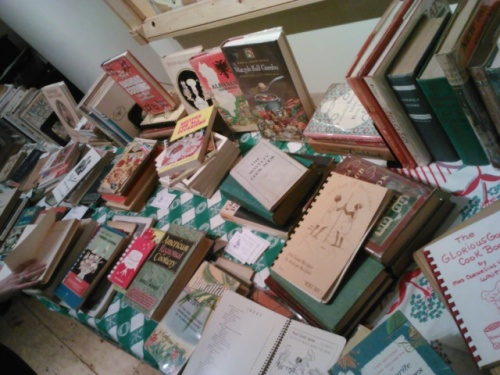 Classic cookbooks for sale.